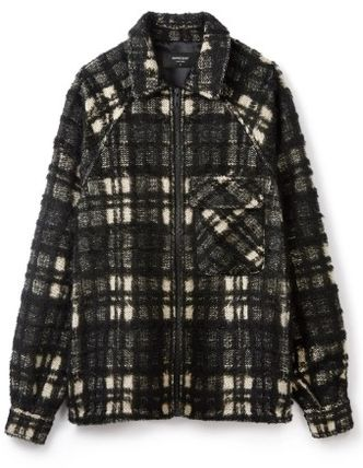 Short Other Plaid Patterns Street Style Jackets