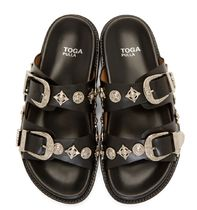 TOGA Rubber Sole Casual Style Leather Slip-On Shoes