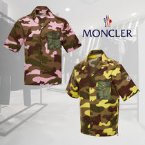 MONCLER Camouflage Tropical Patterns Street Style Cotton