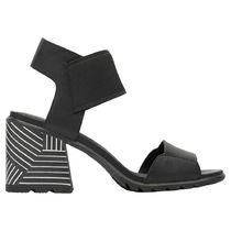 SOREL Rubber Sole Plain Leather Block Heels Heeled Sandals
