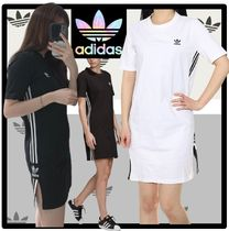 adidas Casual Style Street Style Short Sleeves Dresses