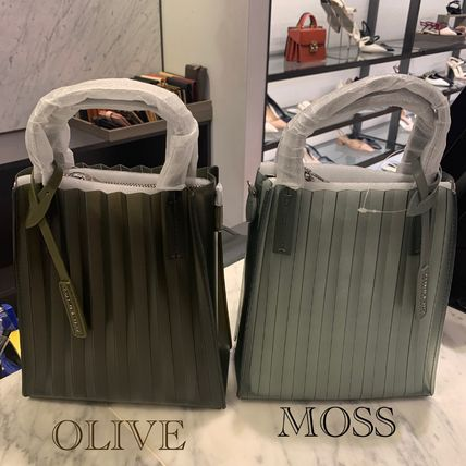 Casual Style 2WAY Plain Party Style Crystal Clear Bags
