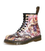 Dr Martens 1460 Unisex Blended Fabrics Street Style Leather Logo Boots