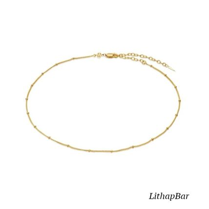 Casual Style Chain 18K Gold Elegant Style