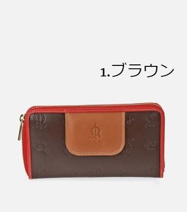 Unisex Leather Long Wallet  Logo Long Wallets