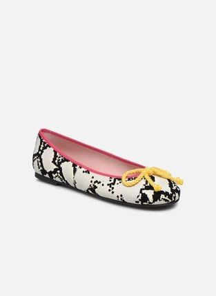 Plain Other Animal Patterns Leather Ballet Shoes