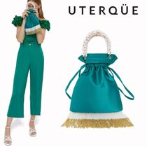 Uterque Flower Patterns Casual Style Blended Fabrics 2WAY Chain