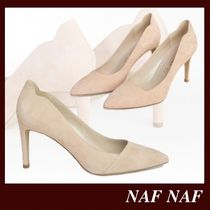 NAF NAF Casual Style Plain Leather Pin Heels Party Style