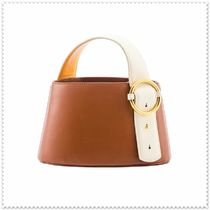 PARISA WANG 2WAY Plain Leather Elegant Style Handbags