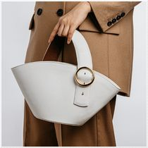 PARISA WANG Casual Style 2WAY Plain Leather Elegant Style Handbags