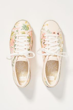 Flower Patterns Collaboration Low-Top Sneakers