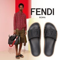 FENDI Blended Fabrics Street Style Leather Shower Shoes