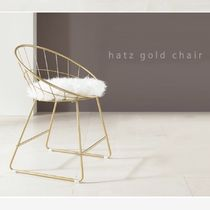 Gold Furniture Fur Furniture Table & Chair