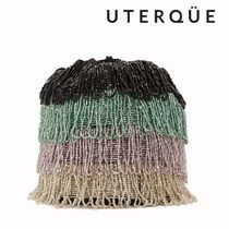 Uterque Stripes Casual Style Blended Fabrics Party Style Fringes