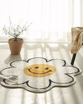 DECO VIEW Flower Patterns Round Bath Mats & Rugs HOME