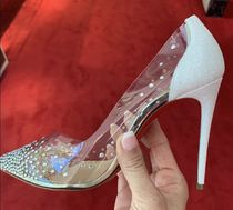 Christian Louboutin Pin Heels PVC Clothing Pointed Toe Pumps & Mules