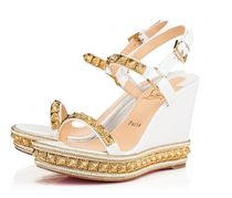 Christian Louboutin Pyraclou Open Toe Platform & Wedge Sandals