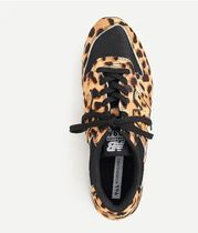 J Crew Leopard Patterns Casual Style Logo Low-Top Sneakers