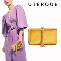 Uterque Casual Style Blended Fabrics 2WAY Plain Party Style Fringes