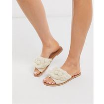 PrettyLittleThing Open Toe Casual Style Blended Fabrics Plain Sandals Sandal