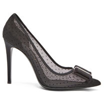 Salvatore Ferragamo Dots Party Style Elegant Style High Heel Pumps & Mules