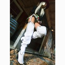 DOLLS KILL Cowboy Boots Casual Style Faux Fur Street Style Plain