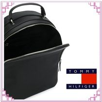 Tommy Hilfiger Monogram Casual Style Street Style A4 Plain Office Style