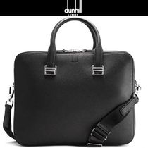 Dunhill A4 2WAY Plain Leather Logo Business & Briefcases