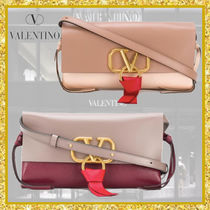 VALENTINO VRING Casual Style Street Style 3WAY Plain Leather Party Style