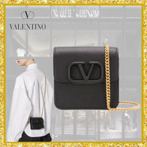 VALENTINO  VSLING Casual Style Street Style 2WAY Chain Plain Leather