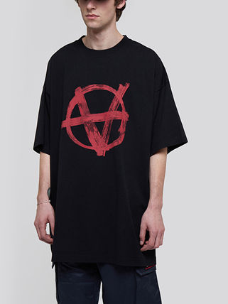 VETEMENTS More T-Shirts Unisex Street Style Plain Short Sleeves Logo T-Shirts 3