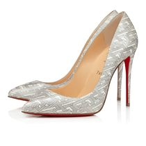 Christian Louboutin Pigalle Follies Monogram Pointed Toe Pumps & Mules