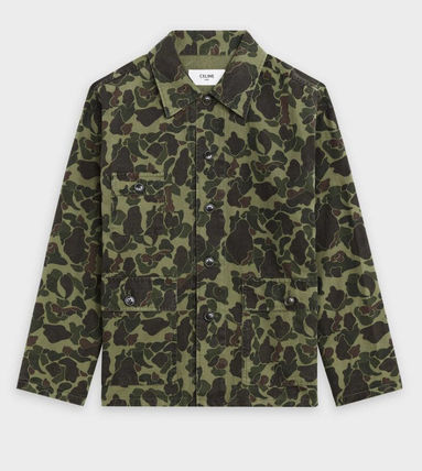 CELINE Military Overshirt In Printed Cotton And Ramie