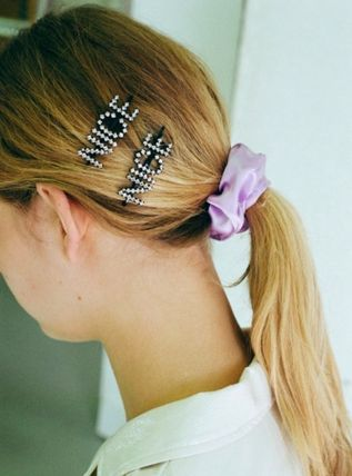 Casual Style Party Style Silver With Jewels Hair Accessories
