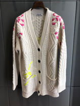VALENTINO Cable Knit Casual Style Long Sleeves Plain Medium