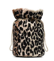 Ganni Leopard Patterns Casual Style 2WAY Purses Elegant Style