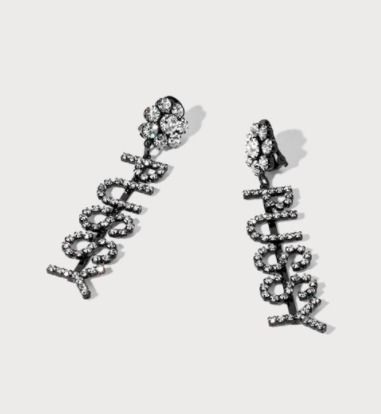 Casual Style Party Style With Jewels Earrings