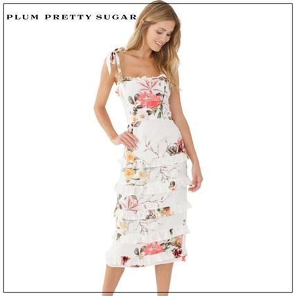 Flower Patterns Casual Style Party Style Elegant Style