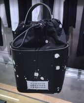 Maison Margiela 5AC Dots Casual Style Calfskin 2WAY Leather Party Style Purses