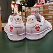 adidas STAN SMITH Heart Moccasin Casual Style Unisex Plain Leather