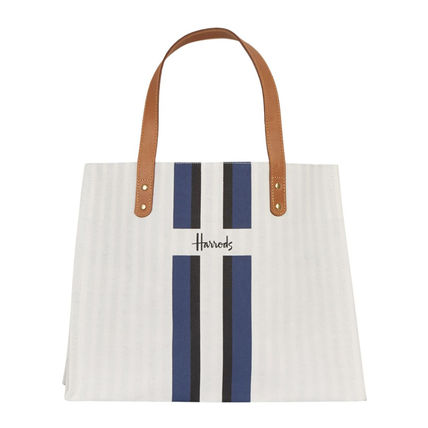 Stripes Unisex A4 Logo Shoppers