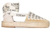 LOEWE Plain Toe Casual Style Suede Blended Fabrics Leather Logo
