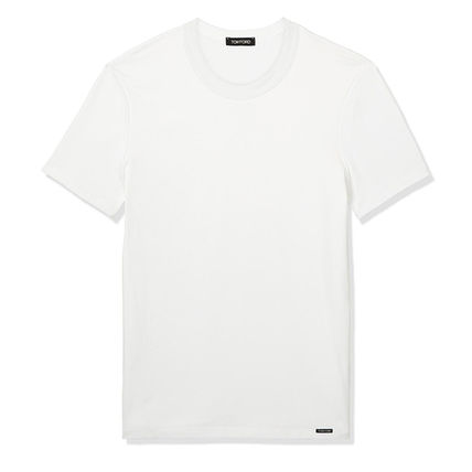 TOM FORD Crew Neck Crew Neck Street Style Plain Cotton Short Sleeves Designers 2