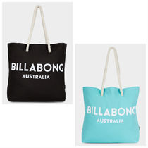 Billabong Casual Style Unisex Canvas Plain Logo Totes