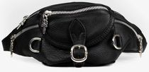 CHROME HEARTS DAGGER Unisex Blended Fabrics Street Style Leather Hip Packs