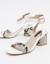 Miss Selfridge Open Toe Casual Style Other Animal Patterns Office Style