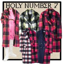 HOLY NUMBER 7 Casual Style Unisex Street Style Coats