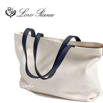 Calfskin Street Style Plain Totes