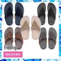 Fitflop Rubber Sole Casual Style Street Style Plain Sandals