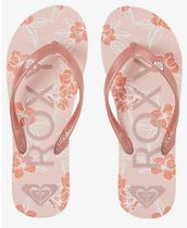 ROXY Flower Patterns Casual Style Party Style Sandals Sandal